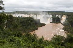 Iguazu spada veiw od Brazil obrazy stock