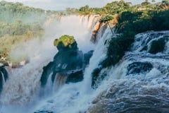 Iguazu Spada w Argentyna Misiones prowincji zdjęcie stock
