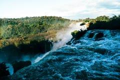 Iguazu Spada w Argentyna Misiones prowincji fotografia stock
