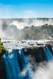 Iguazu spadki lub diabła gardło Fotografia Royalty Free