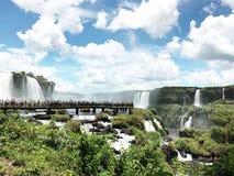 Iguazu spadki s? jeden ?wiat s?awne naturalne siklawy na granicie Brazylia i Argentyna, fotografia stock