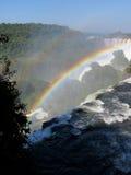 Iguazu tęcza i spadki Fotografia Royalty Free