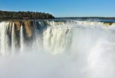 Iguazu vattenfall, Argentina Arkivbilder