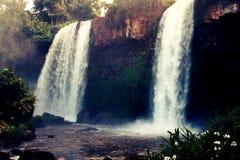 Iguazu vattenfall, Misiones, Argentina Arkivfoton