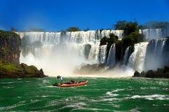 Iguazu-Wasserfälle Stockfotos
