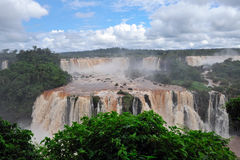 Iguazu watefalls in Brazil. Iguazu waterfalls in Brazil panoramic view stock photography