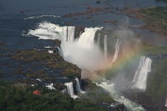 Iguazu Water Falls. Sight seeing from the air Stock Photos