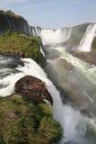 Iguazu Water Falls. Rainbow in Brazil Royalty Free Stock Photos