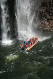 Iguazu Water Falls boats Royalty Free Stock Images