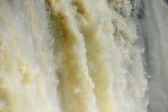 Iguazu water flow Royalty Free Stock Images