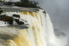 Iguazu water flow Stock Image