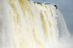 Iguazu water flow Stock Photos