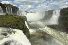 Iguazu Waterfall. Iguazu River and Waterfall in Brazil Royalty Free Stock Photos