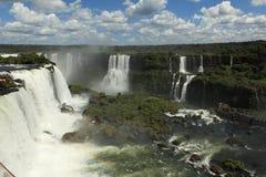 Iguazu Waterfall. Iguazu River and Waterfall in Brazil Stock Photo