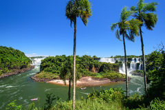 Iguazu waterfall in Argentina. The Iguazu waterfall in Argentina Royalty Free Stock Photos