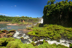 Iguazu waterfall in Argentina. The Iguazu waterfall in Argentina Stock Photography