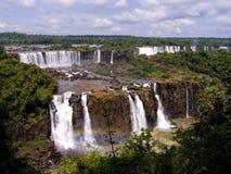Iguazu waterfall. From the brasilian side Royalty Free Stock Photos