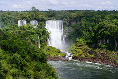 Iguazu waterfall in Brazil. The Iguazu waterfall in Brazil Royalty Free Stock Images