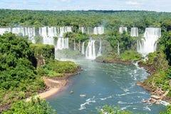 Iguazu waterfall in Brazil. The Iguazu waterfall in Brazil Stock Photo