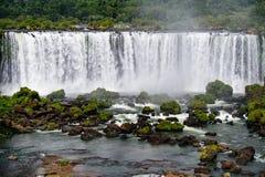 Iguazu waterfall in Brazil. The Iguazu waterfall in Brazil Royalty Free Stock Image