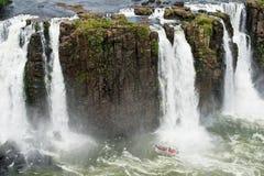 Iguazu waterfall in Brazil. The Iguazu waterfall in Brazil Stock Image