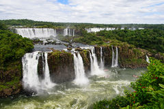 Iguazu waterfall in Brazil. The Iguazu waterfall in Brazil Royalty Free Stock Photography