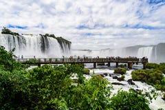Iguazu waterfall in Brazil. The Iguazu waterfall in Brazil Stock Photos