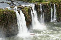 Iguazu waterfall in Brazil. The Iguazu waterfall in Brazil Royalty Free Stock Photo