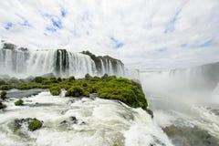 Iguazu waterfall in Brazil. The Iguazu waterfall in Brazil Royalty Free Stock Photos