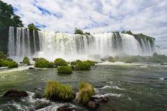 Iguazu waterfall in Brazilil. The Iguazu waterfall in Brazil Royalty Free Stock Photos