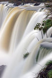 Iguazu waterfall in motion. A detail of the Iguazu waterfall in Argentina with blurred motion Stock Photos