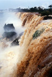 Iguazu waterfalls. View of the Iguazu falls Royalty Free Stock Images