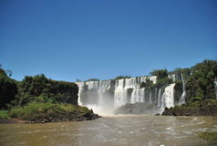 Iguazu Waterfalls. View of the Iguazu waterfalls Stock Photography