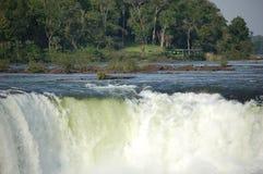 Iguazu Waterfalls. Devil´s throat at Argentina´s Iguazu waterfalls Stock Photos