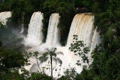Iguazu waterfalls. Beautiful high angle view at famous Iguazu waterfalls. Argentina Royalty Free Stock Photos