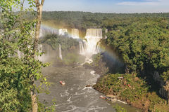 Iguazu Waterfalls Aerial View in Brazil Royalty Free Stock Images
