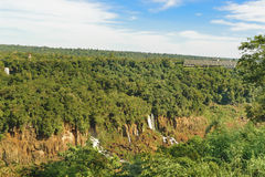 Iguazu Waterfalls Aerial View in Brazil Stock Photography