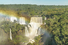 Iguazu Waterfalls Aerial View in Brazil Royalty Free Stock Image