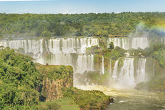 Iguazu Waterfalls Aerial View in Brazil Royalty Free Stock Photo
