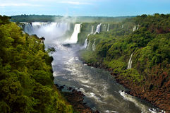Iguazu waterfalls (Argentina and Brazil) Royalty Free Stock Photography