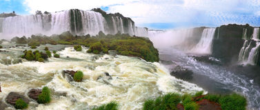 Iguazu waterfalls in Argentina and Brazil Stock Photo