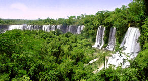 Iguazu waterfalls in Argentina and Brazil Royalty Free Stock Photos