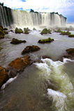 Iguazu waterfalls in Argentina and Brazil, South America Royalty Free Stock Photography