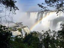 Iguazu waterfalls at Border of Brazil and Argentina. Royalty Free Stock Photo