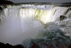 Iguazu Waterfalls,Brazil. The power of the Iguazu Waterfalls,Brazil Stock Photos