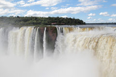 Iguazu waterfalls and clouds Royalty Free Stock Images