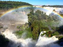 Iguazu Waterfalls. Iguazu Iguacu falls, largest series of waterfalls on the planet, located between Brazil, Argentina, and Paraguay with up to 275 separate royalty free stock photo