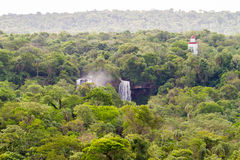 Iguazu Waterfalls National Park. Iguazu Iguacu falls, largest series of waterfalls on the planet, located between Brazil, Argentina, and Paraguay with up to 275 stock photo