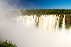 Iguazu Waterfalls National Park. Iguazu Iguacu falls, largest series of waterfalls on the planet, located between Brazil, Argentina, and Paraguay with up to 275 royalty free stock photography