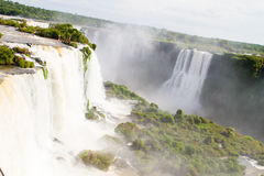 Iguazu Waterfalls National Park. Iguazu Iguacu falls, largest series of waterfalls on the planet, located between Brazil, Argentina, and Paraguay with up to 275 royalty free stock image